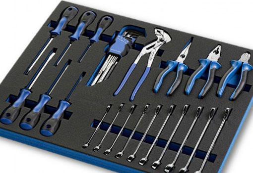 Bases de espuma para herramientas