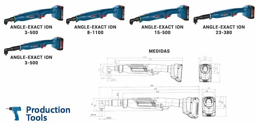 modelos de atornilladores angulares exact ion de bosch