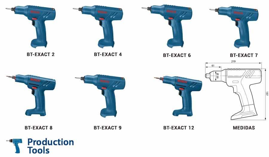 modelos de atornilladores bt-exact de bosch
