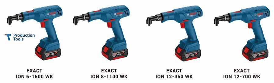 modelos de atornilladores exact ion wk tipo pistola bosch