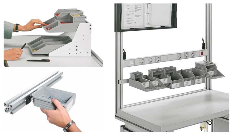 Cajas y contenedores para piezas