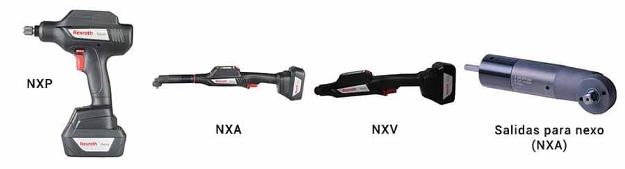 Modelos de Atornilladores eléctricos inalámbricos NEXO_Bosch Rexroth