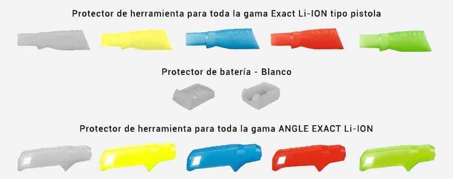 protectores para atornilladores exact li-ion de bosch
