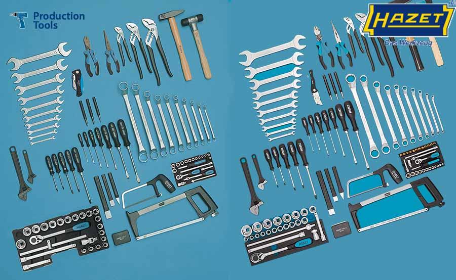 Surtido de herramientas - Equipamiento General de Taller Hazet - Logo Production Tools y logo Hazet