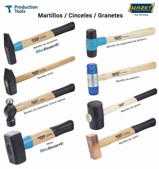 Martillos - Cinceles - Granetes Hazet