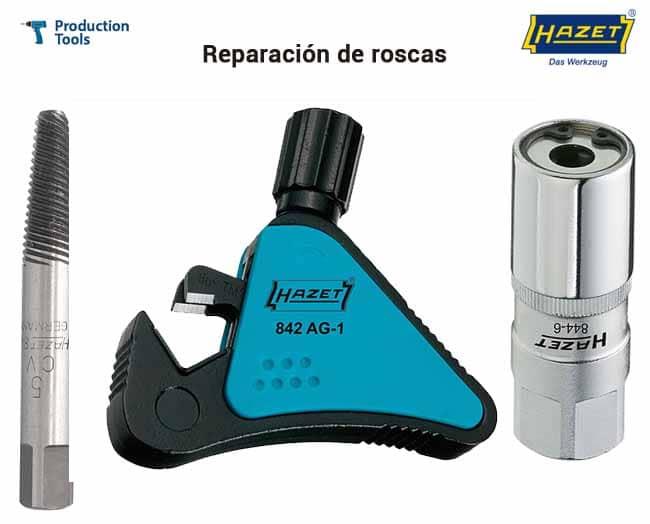 herramientas manuales para Reparacion de roscas hazet