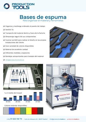 catalogo bases espuma herramientas production tools